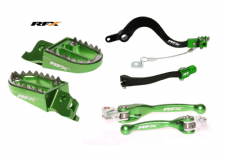 KXF 450 09-15 RFX Brake Gear Pedal Lever Flexi Lever Footpegs Kit Green